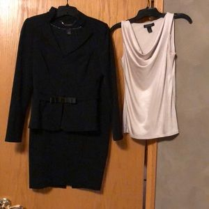 WHBM Suit coat, coordinating skirt and tank